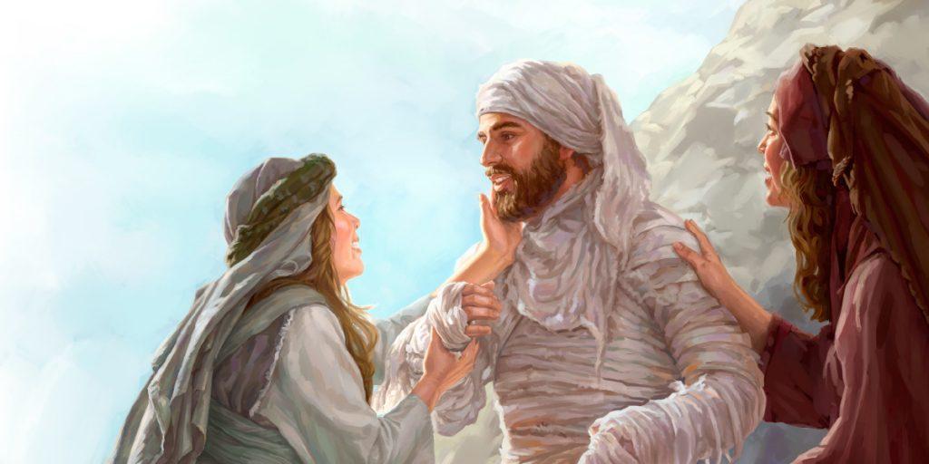 jak jezus wskrzesił łazazarz, opis